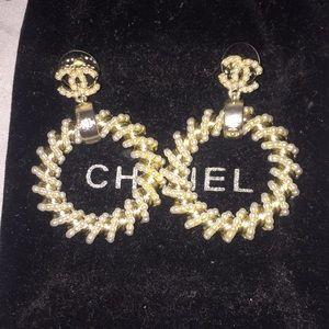 Rare Chanel CC dangle earrings